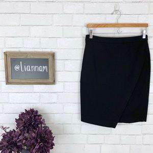 Banana Republic Black Cross A-Symmetrical Skirt